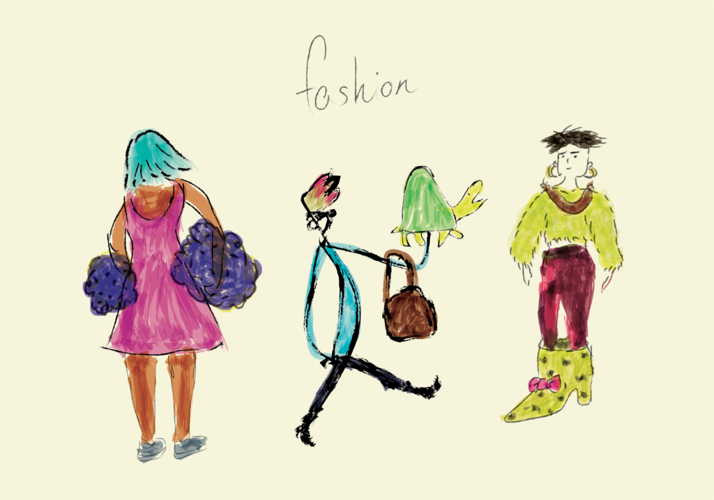fashion clothes illustration doodle