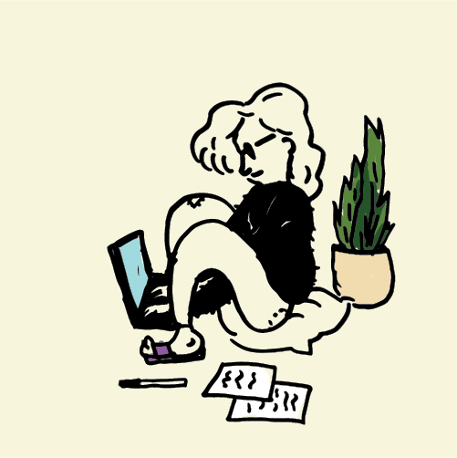 work summer job doodle illustration