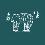 Grafisk print - illustration Friendly bear - vejrupjo.dk