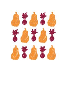 Grafisk design med grøntsager vejrupjo.dk